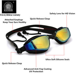 Alientech-Adult-Anti-fog-Swimming-Goggles-Glasses-Electroplating-Lens-UV-Protect