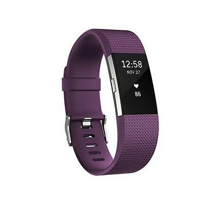 Fitbit Charge 2 Wireless Heart Rate  Activity Tracker - Large - Plum