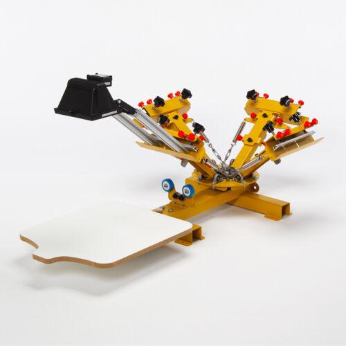 HDT4000 Siebdruckmaschine für 4-Farbdruck auf TextilienSiebdruck Textildruck