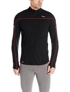 Saucony-Men-039-s-Transition-Sportop-1-4-Zip-Long-Sleeve-Shirt-SA81073