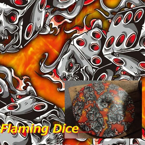 PVA FILM 0.5 X 10m Dipping Hydrographics Water Transfer Printing Flaming  DICE