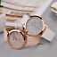 Glitter-Sparkling-Women-039-s-Wrist-Watch-Rose-Gold-Leather-Bracelet-Ladies-Gift miniature 1