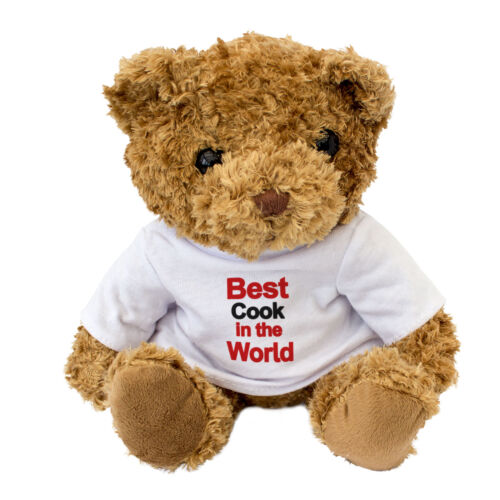BEST COOK IN THE WORLD Cute Cuddly Teddy Bear Gift Present Award NEW