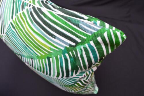 LF813a vert bleu jaune marron feuille en toile coton Housse de coussin//oreiller couverture