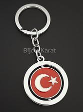 Türkei Schlüsselanhänger Türkische Flagge Ay Yildiz Türkiye Anahtarlik Silber