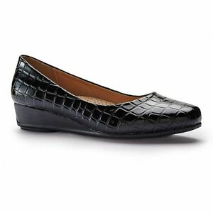 GROSBY-GLORIA-BLACK-PATENT-CLOSED-TOE-WOMENS-FLAT-WORK-CASUAL-SHOES-LOAFER-FLATS