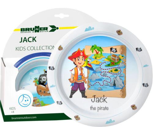 Camping brunner melamina niños vajilla camping utensilios Jack Boy 5tlg Anti Slip