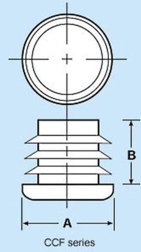"""Caplugs CCF-1 1//4-14-20 round Tubing Caps 1.25/"""" 5,10,25,50,100"""