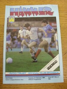 21-02-1984-West-Ham-United-v-Watford-creased-corner-Footy-Progs-Bobfrankande