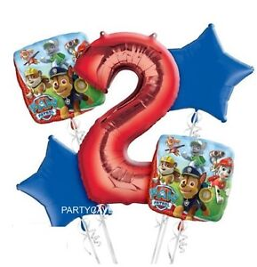 Image Is Loading PAW PATROL 2ND BIRTHDAY PARTY HELIUM FOIL BALLOON