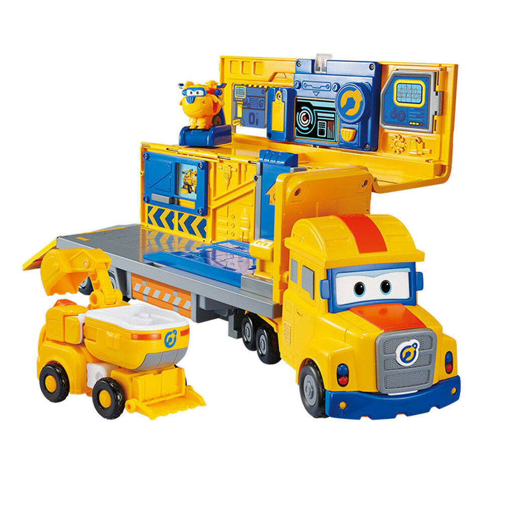 Super Wings Pappa Wheel Donnie Playset Transfoming Toy Kids Collection Gift