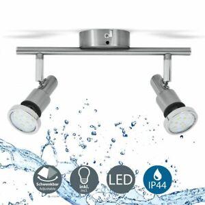 LED Badlampe IP44 Deckenstrahler Badezimmer GU10 2er Spot ...