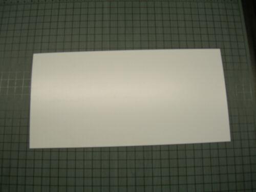 "WHITE POLYSTYRENE PLASTIC SHEET .030/"" x 5-5//8/"" X 12/"" LIGHT DIFFUSING LOT OF 10"
