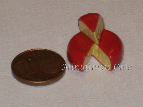 Edam cheese from Fimo dolls house miniature 1//12