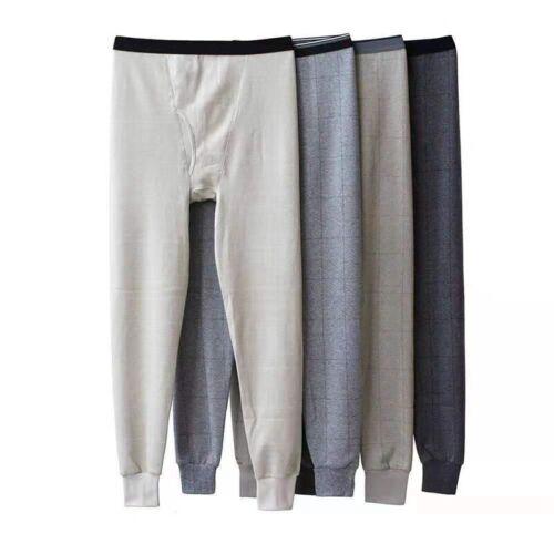 Mens Long Johns Warm Thermal Trouser Pants Indoor Leggings L-4XL Color Random