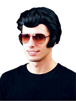 Mens Deluxe Elvis Presley Rocker 50S Fancy Wig The King Grease Danny Adult