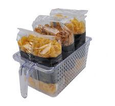 4 X medio de almacenamiento de cocina ordenado Novo cesta para botellas frasco organizadores titular