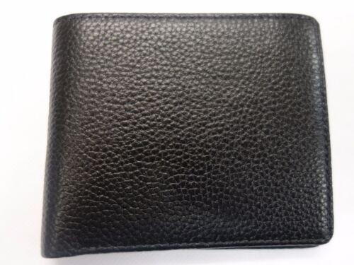 SOFT COWHIDE LEATHER MEN/'S WALLET  BLACK RFID BLOCKING NOTECASE GIFT-BOXED