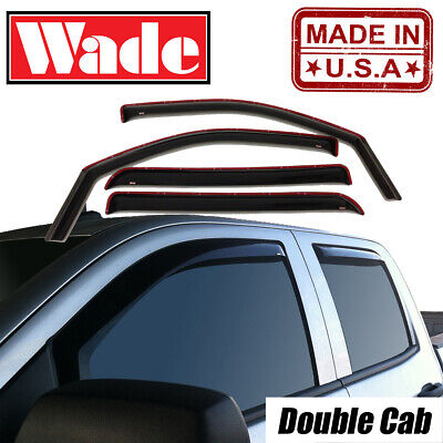 In-Channel Vent Visors for 2014-2019 Chevy Silverado 1500 LD Double Cab