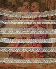 """Lot 5.8 yds ANTIQUE Victorian Valenciennes Net Edging Lace Cream Vintage 212"""""""
