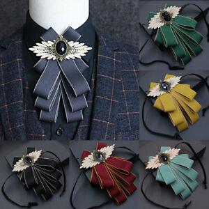 Classic-Men-039-s-Satin-Bowties-Suit-Shirt-Bow-Tie-Necktie-Wedding-Groom-Formal
