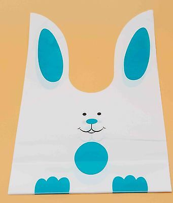 Food Package Bakery BagsCookie Bread Candy GiftCute Blue Rabbit50pcs