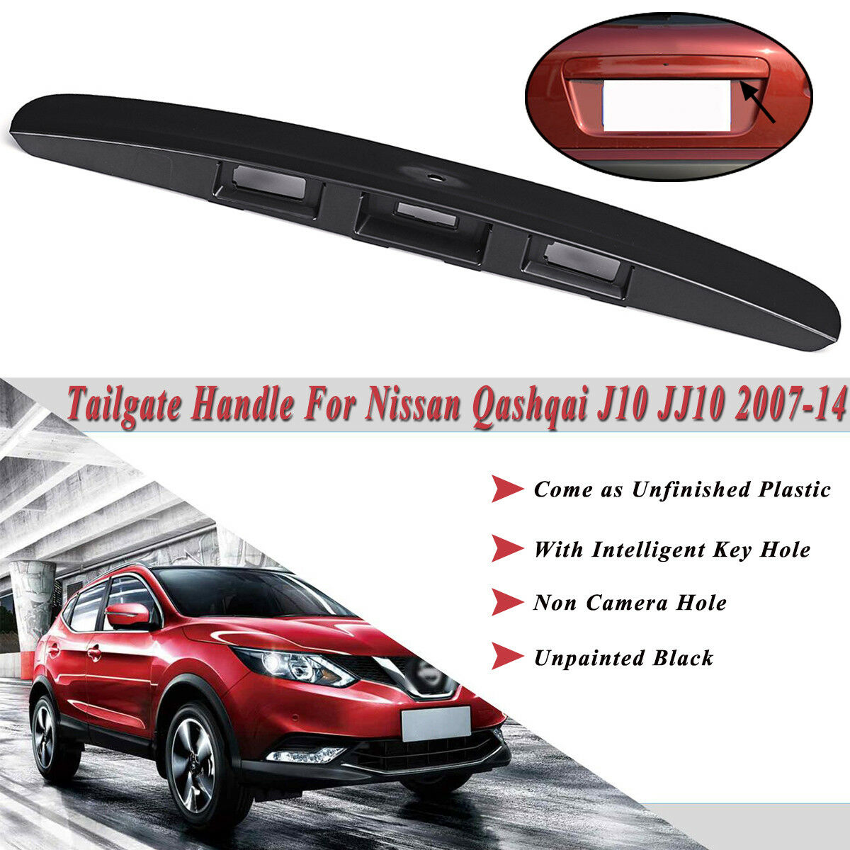 Boot Lid Tailgate Handle Qashqai 2007-2014 90810-JD40H