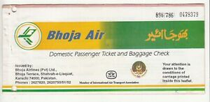 1997-PAKISTAN-BHOJA-AIR-AIRLINES-PASSENGER-TICKET-AND-BAGGAGE-CHECK