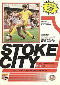 Stoke v Southampton  Division 1  198485 - <span itemprop=availableAtOrFrom>Warrington, United Kingdom</span> - Stoke v Southampton  Division 1  198485 - Warrington, United Kingdom