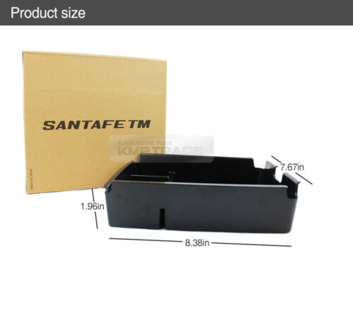 Armrest Storage Center Console Tray Box Black ARTROME for HYUNDAI 19 Santa Fe TM