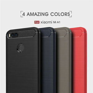 pretty nice 39ba1 58cb9 Details about For Xiaomi Mi A1 5X Brushed Rugged Armor Hybrid Slim Soft TPU  Back Cover Case