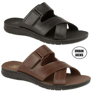 Mens-Faux-Leather-Lightweight-Summer-Sandals-Hiking-Shoes-Size-6-7-8-9-10-11-12