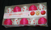 Strand Of 10 Valentine Wedding Decorations Pink White Red Lights Inside/outside