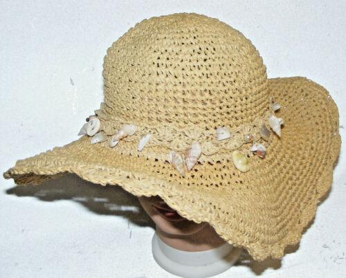 Cappelli Straworld Straw Hat Raffia Weave Seashell