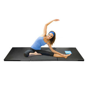 Black-Gymnastics-Mat-Thick-Folding-Panel-Gym-Fitness-Aerobics-Yoga-3-panels
