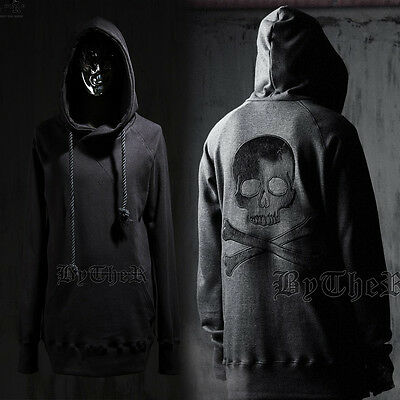 ByTheR Fur Skull Rope Hoodie Trendy Urban Stylish Charming SFSELFAA0017898 UK