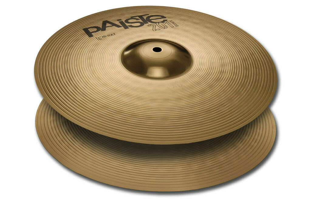 Paiste 201 Bronze Universal 14  Hi Hat Cymbals New W-Warranty 154014-U