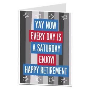 16240a29d Image is loading Funny-Retirement-Retiring-Card-For-Men-amp-Women-