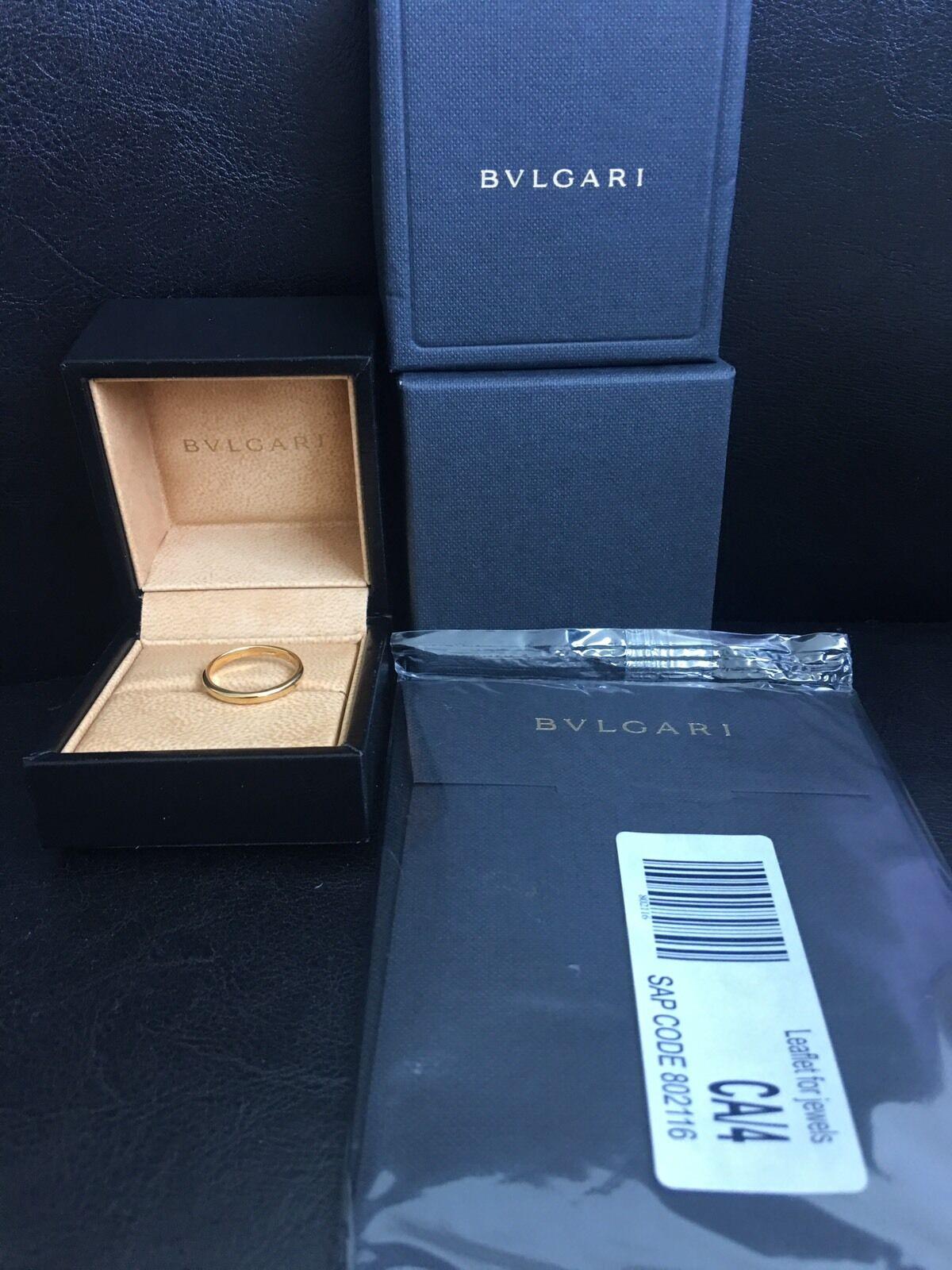 Bvlgari Wedding Ring 18k Yellow gold AN214701 328363 Ring Sz 10.75MSRP  700