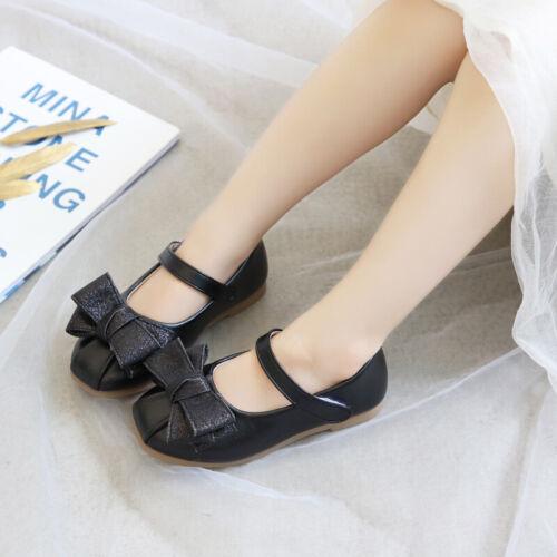 Children Girls Soft-Soled Dance Shoes Bow-Knot Pumps Kids Flats Princess Shoes