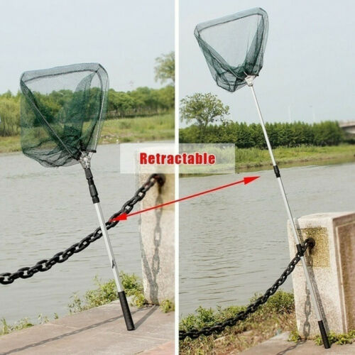 Landing Net Telescopic Folding Fishing Pole Extending Fly Carp Course Sea Lig