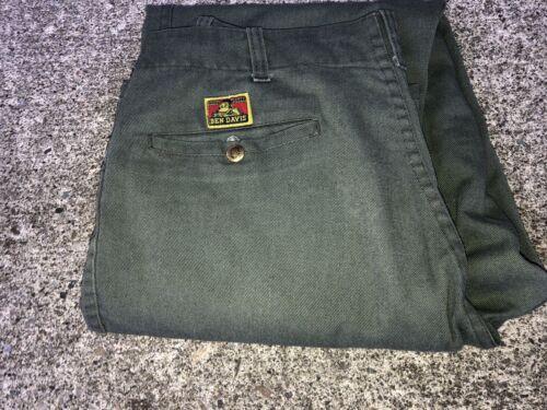 Vintage Ben Davis Pants Olive 32x34? VTG Work Pant