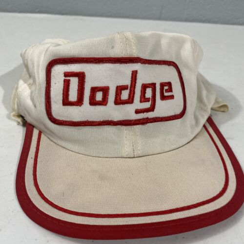 vintage 80s dodge patch fitted hat size small/medi