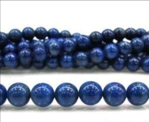 "6-14mm Blue Egyptian Dark Blue Lazuli Lapis Round Gemstone Loose Beads 15/""Strand"