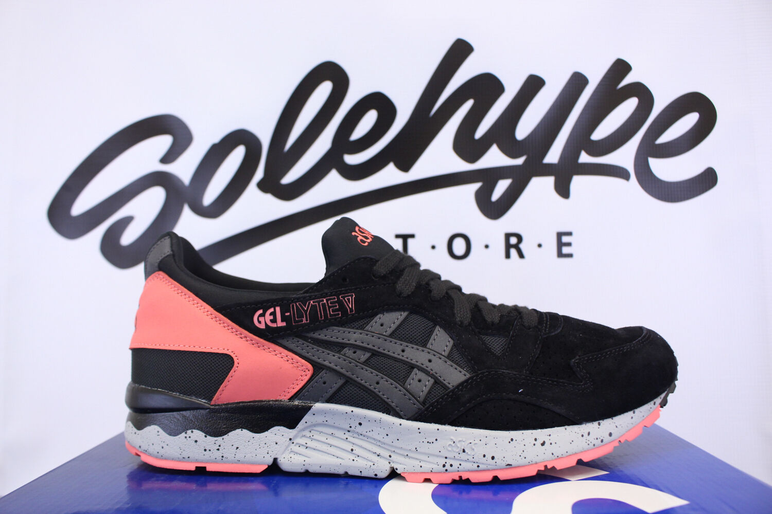 ASICS GEL LYTE V BLACK GREY INFRARED H7N4L 9090 Price reduction New shoes for men and women, limited time discount