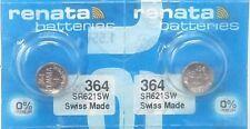 10x Renata 364 SR621SW Swiss Watch Battery 1.55v