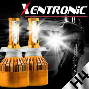 XENTRONIC LED Headlight H4 9003 Kit High Low Beam Replace Halogen Bulbs