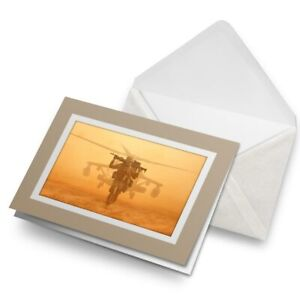 Greetings-Card-Biege-Soldier-at-War-Helicopter-Military-24477