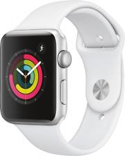 Artikelbild apple Watch Series 3 GPS, 42mm Alu weisses Armband Silber-Aluminium