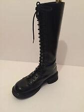 Dr Martens Black 20 Hole Eye  Leather Boots UK.7 MADE IN ENGLAND VINTAGE